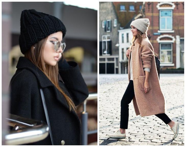 С чем носить вязаную шапку