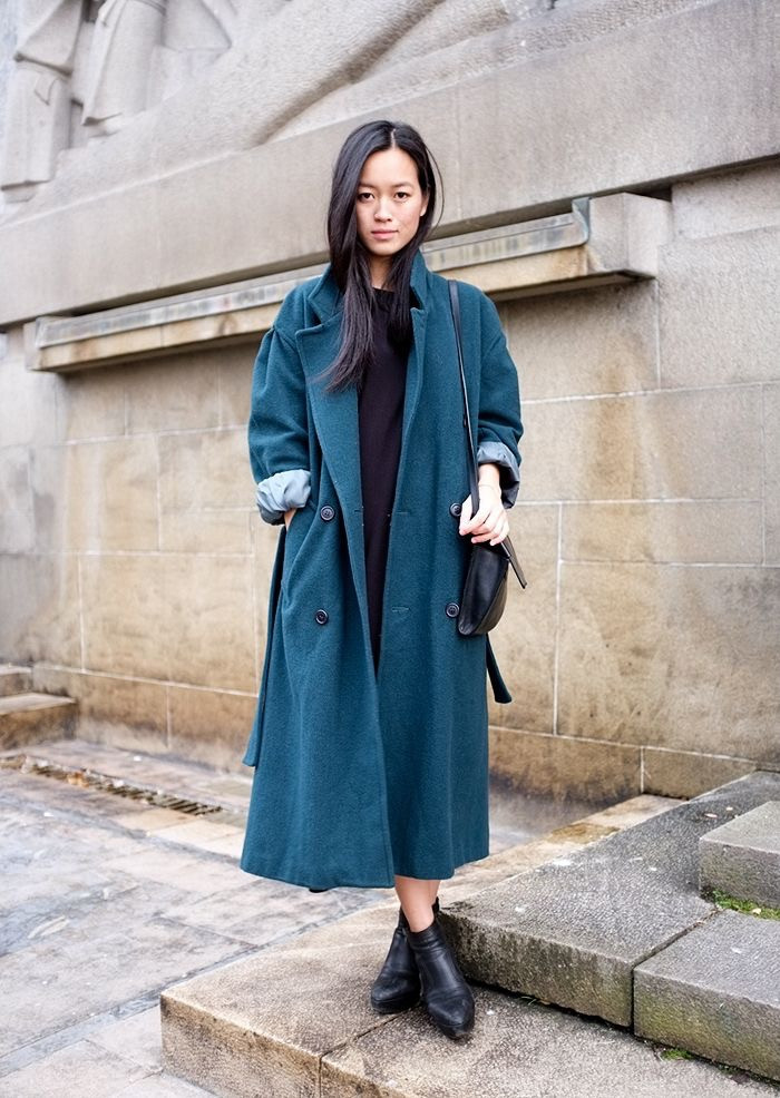 Цветное оверсайз пальто