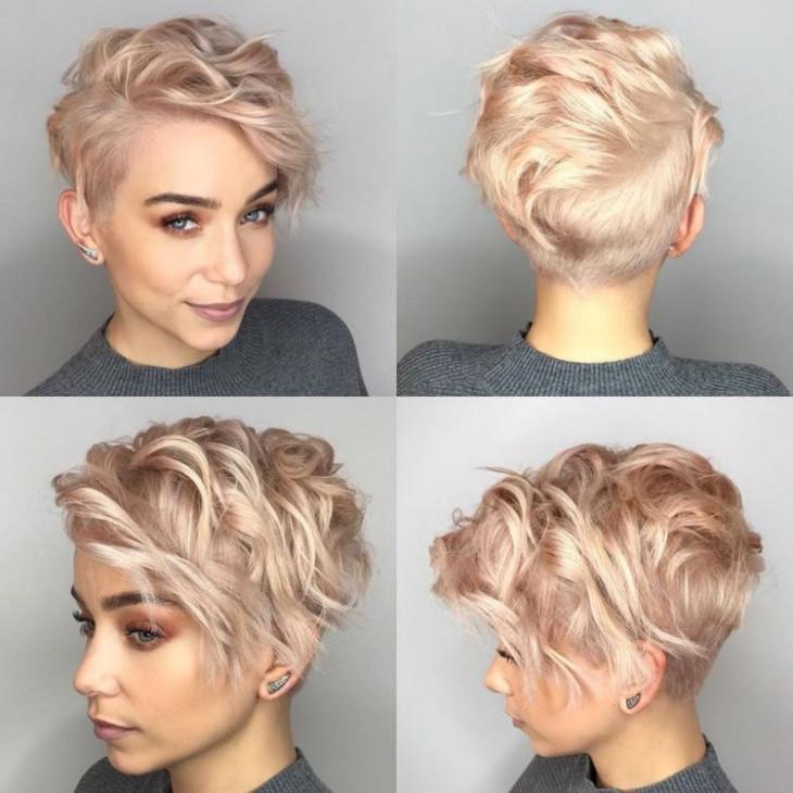 Стрижка пикси: вьющиеся волосы