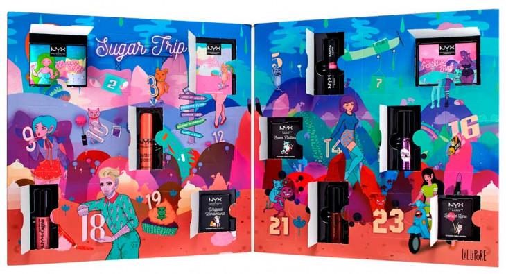 NYX Professional Makeup Sugar Trip 24 Days Of Beauty Advent Calendar