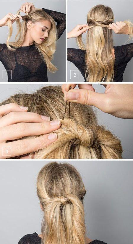 жгуты на длинных волосах
