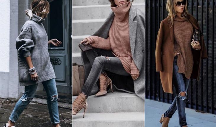 платье свитер как носить