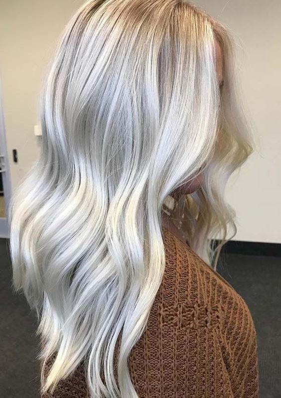 платиновый блонд балаяж