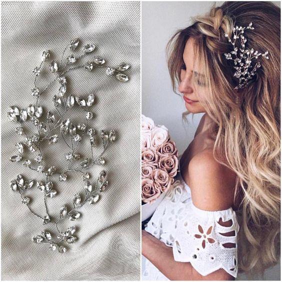 Красивое украшение для волос с камнями