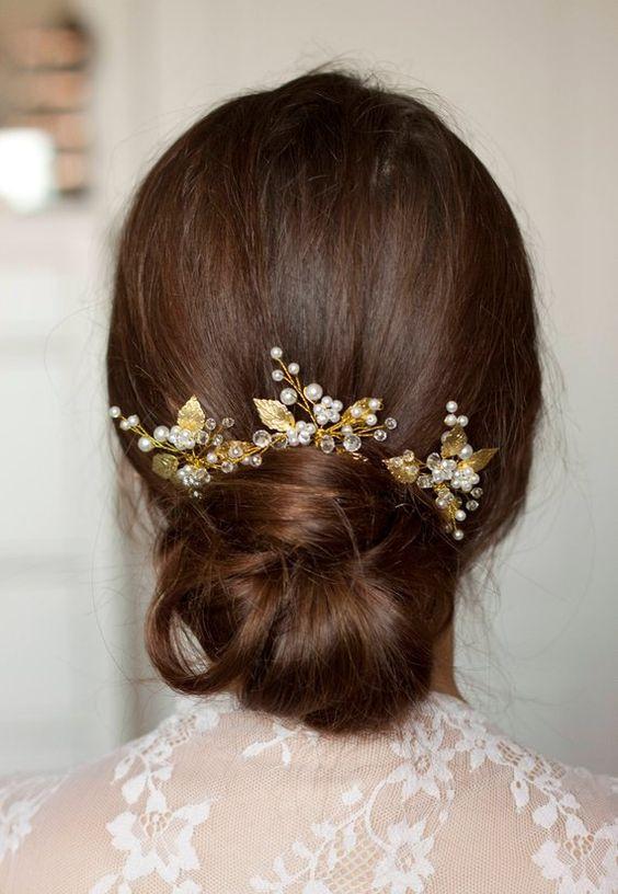 украшения для волос с листьями