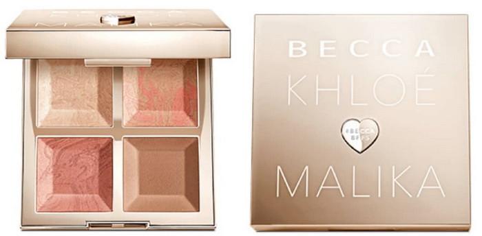 Палетка для лица Bronze, Blush, Glow Palette от Becca Khloe Malika