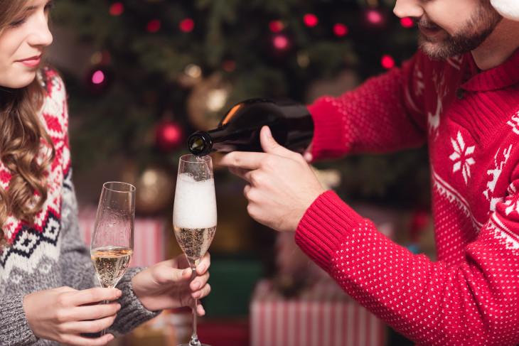 как пить алкоголь, чтобы не поправиться на новый год