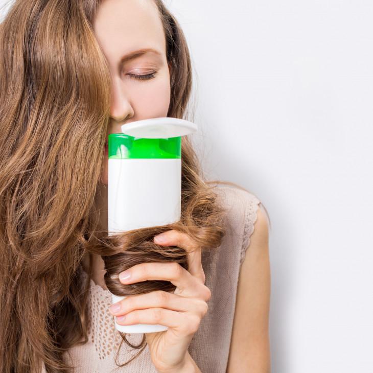 блеск волос после органических шампуней