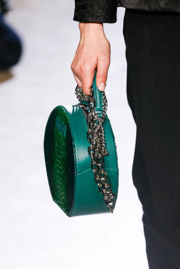 изумрудная женская сумка
