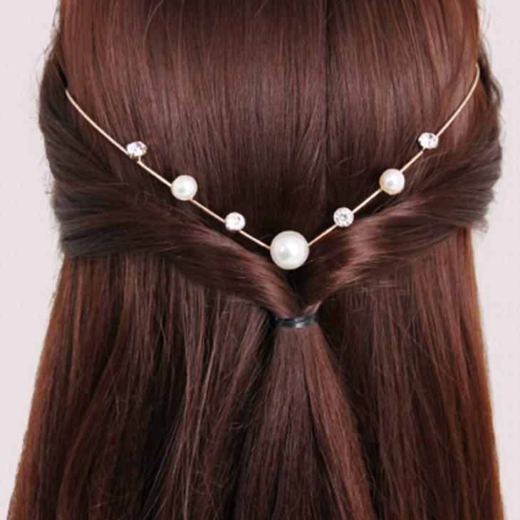 бусинки - украшения для волос