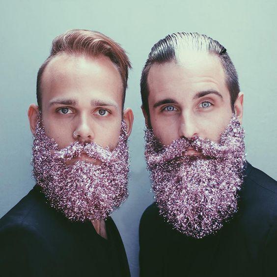 глиттер на бороде
