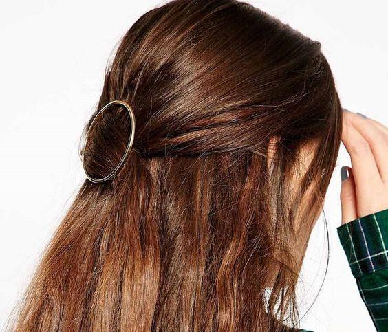 круглая заколка для волос