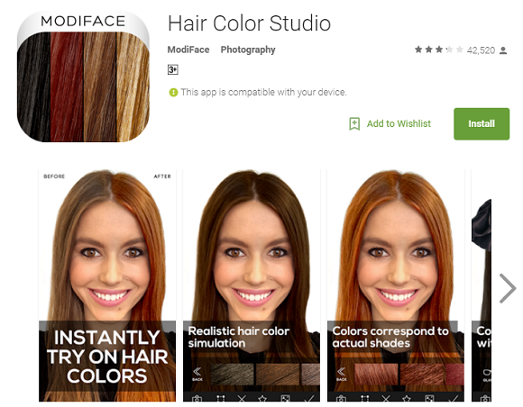 ModiFace Hair Color Studio