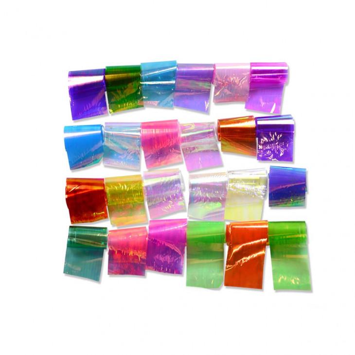 материал для дизайна ногтей битое стекло