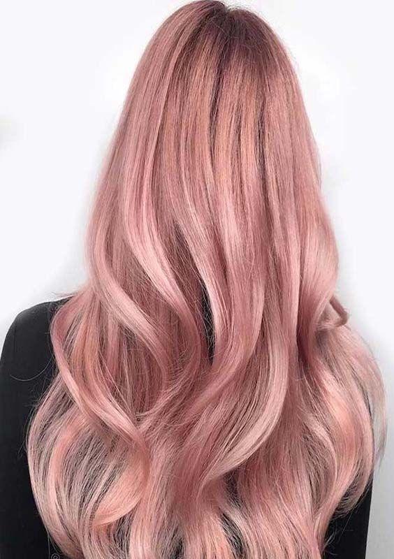 яркий блонд - клубничный цвет волос