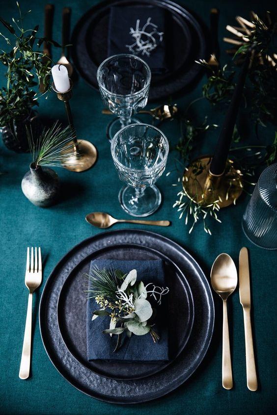 декор стола Новый год