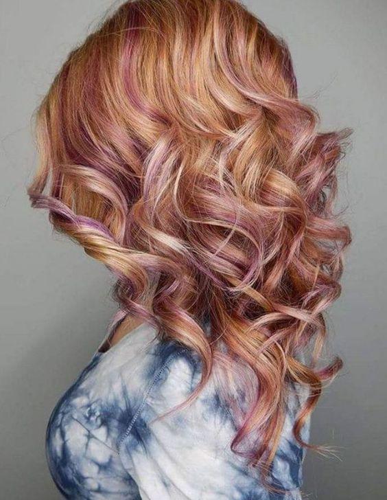 блонд клубничный