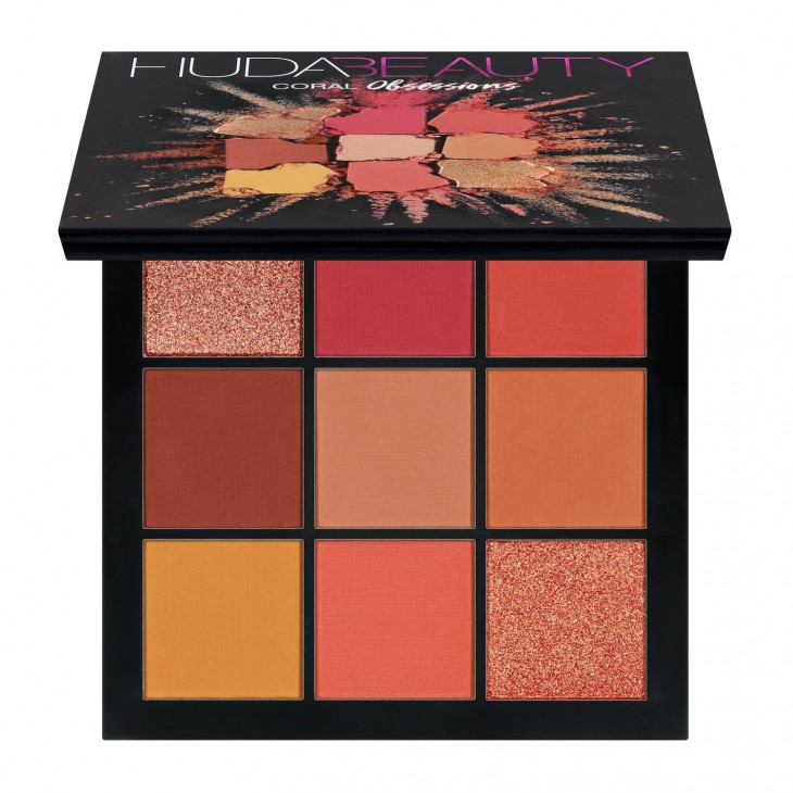Палетка теней Huda Beauty Obsessions Eyeshadow Palette in Coral