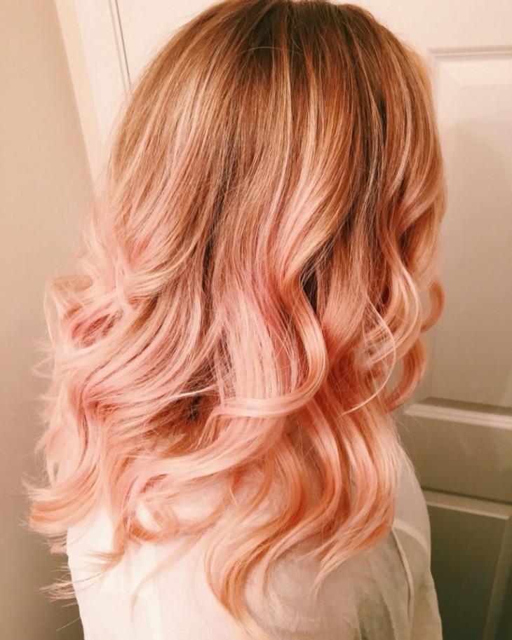 персиково-клубничный блонд