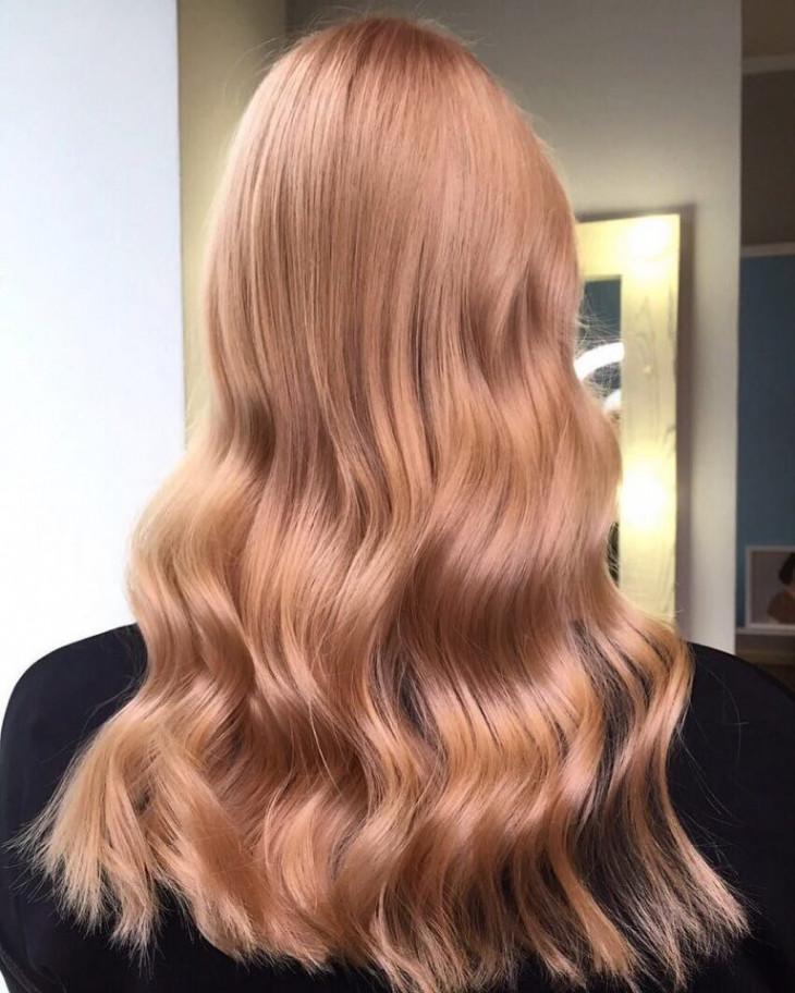 сияющий клубничный блонд