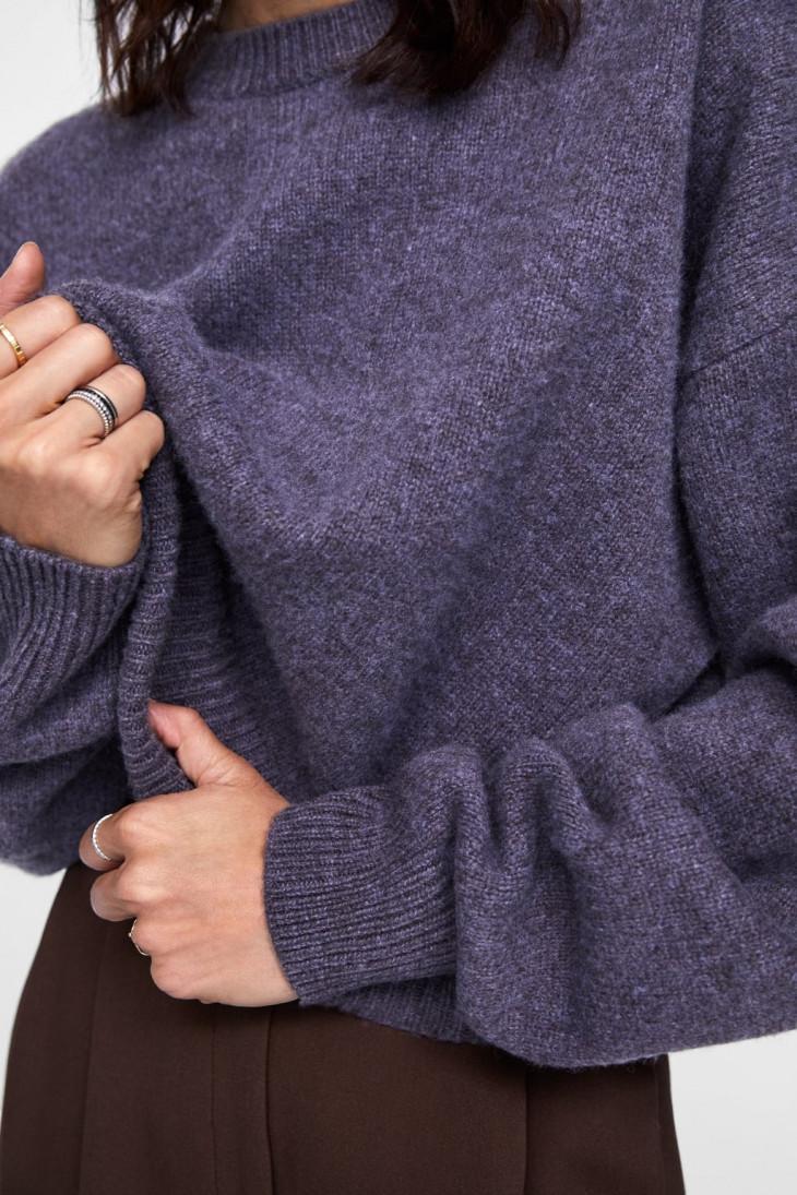 Шерстяной oversize-свитер Zara