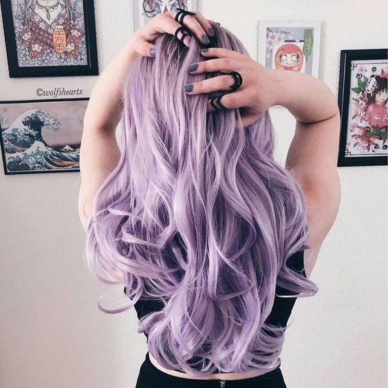 лиловый оттенок волос