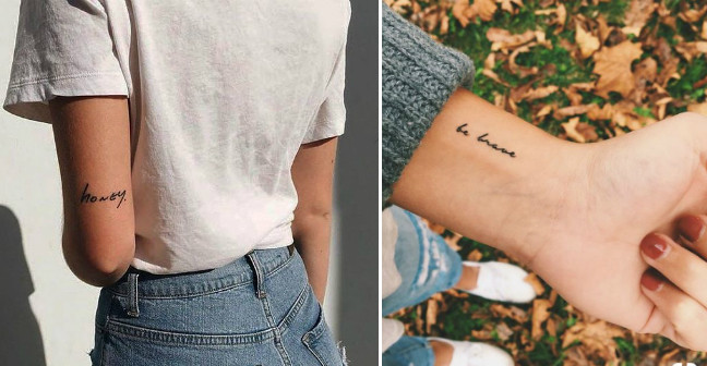 Татуировки-надписи на руке