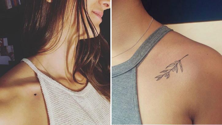 Женские татуировки на ключице