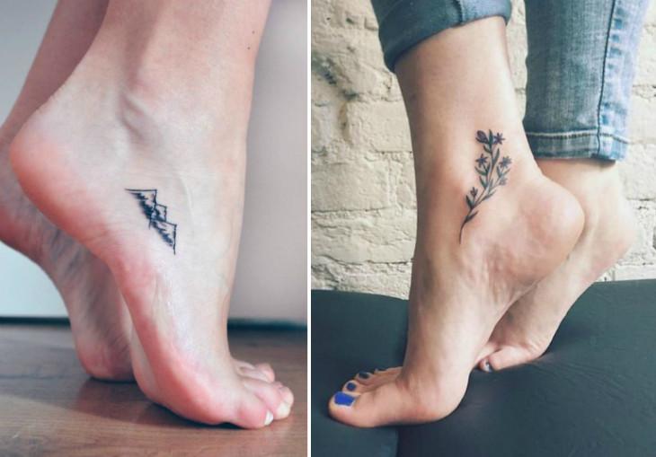 Женские татуировки в виде цветка