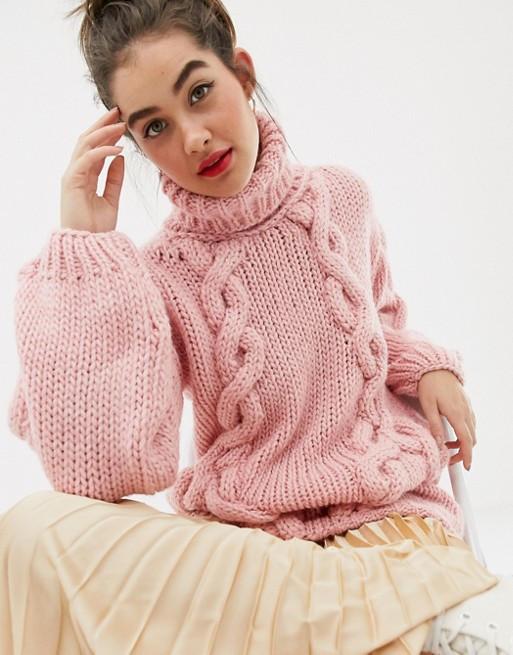 Oversize-свитер ручной вязки OneOn