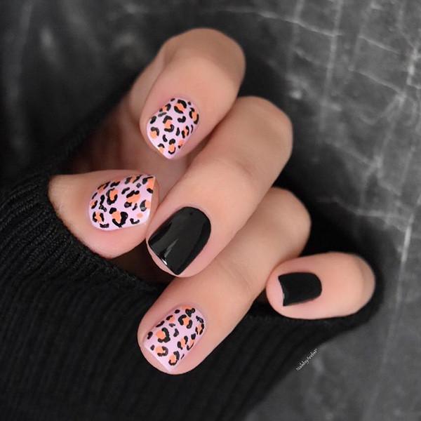 леопардовый дизайн ногтей леопардовый принт