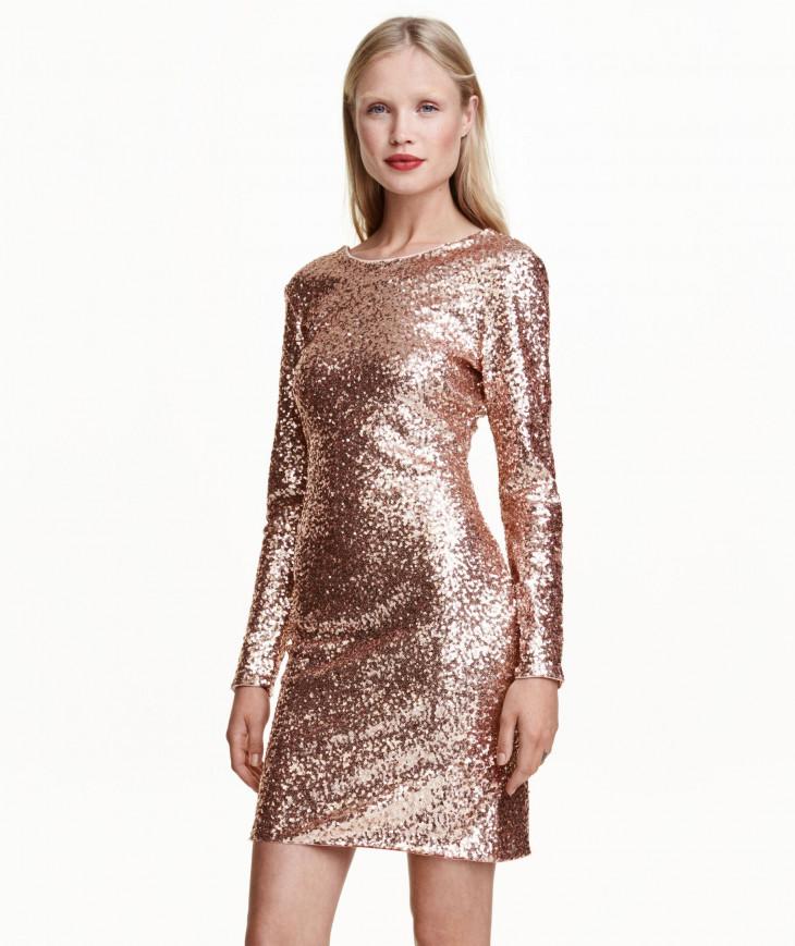 Платье с пайетками от H&M