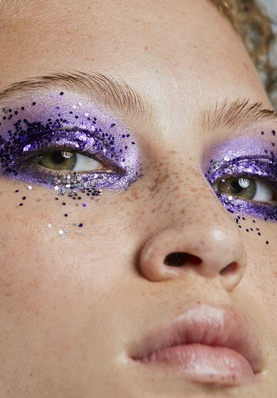 Сиреневый макияж глаз