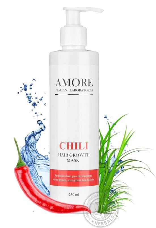 Концентрированная перцовая маска Amore Chili для стимуляции роста волос
