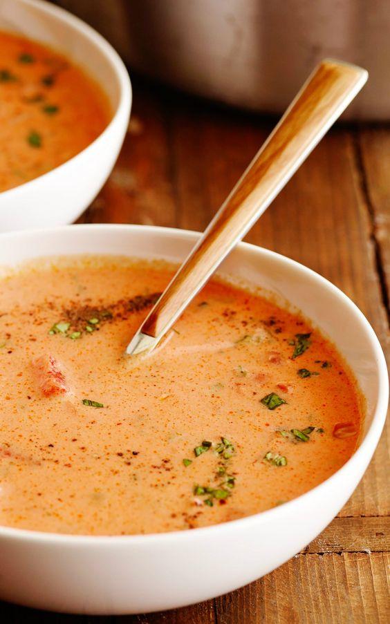 Томатный суп с сахаром