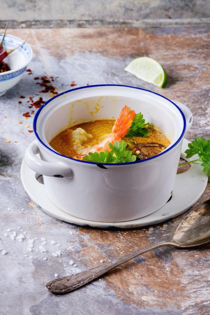 Рецепт паназиатского супа Лакса