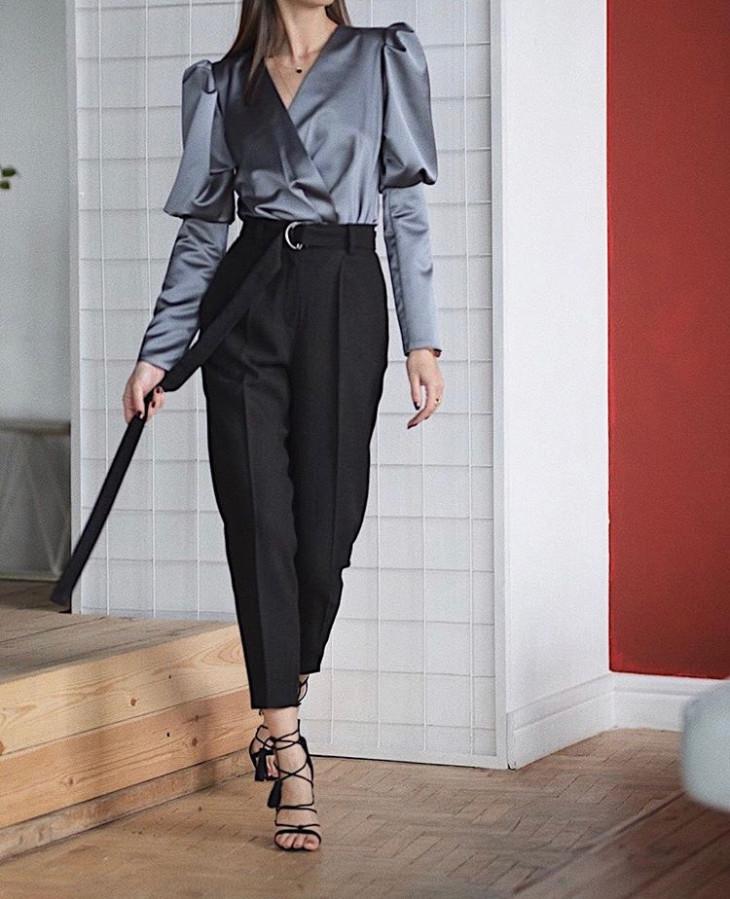 Шерстяные брюки черного цвета CouCou Collection