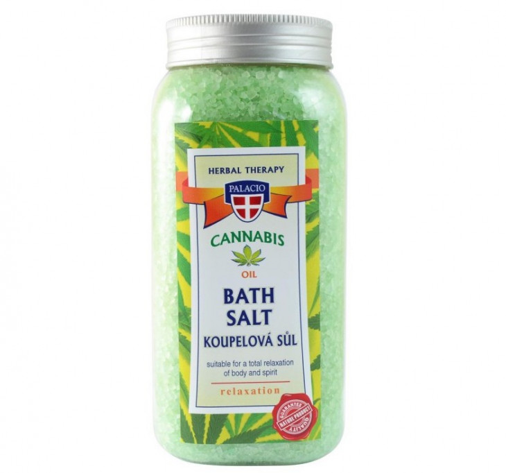 Соль для ванны с экстрактом конопли