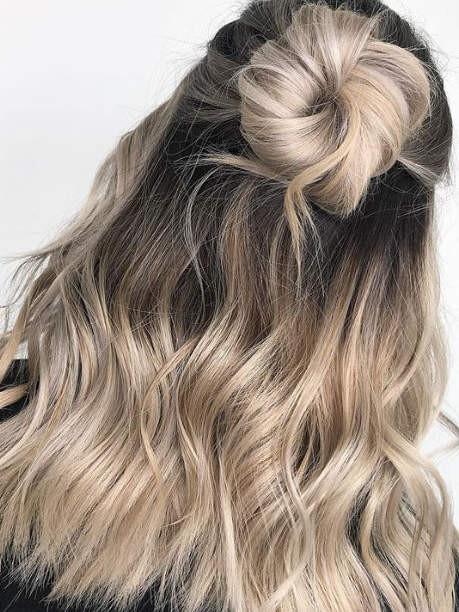 Кремовый блонд окрашивание 2019
