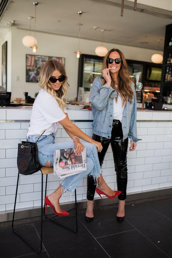 девушки на каблуках