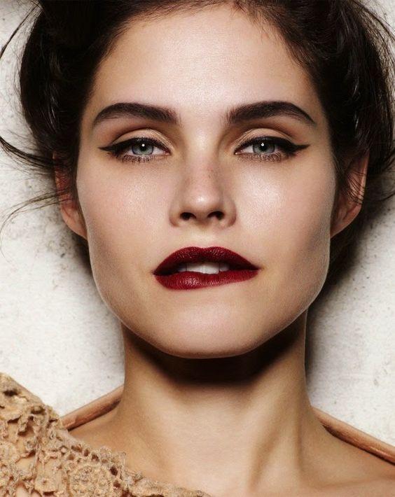 Яркий макияж губ
