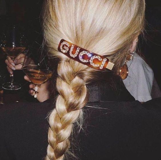 Заколка для волос с логотипом Гуччи