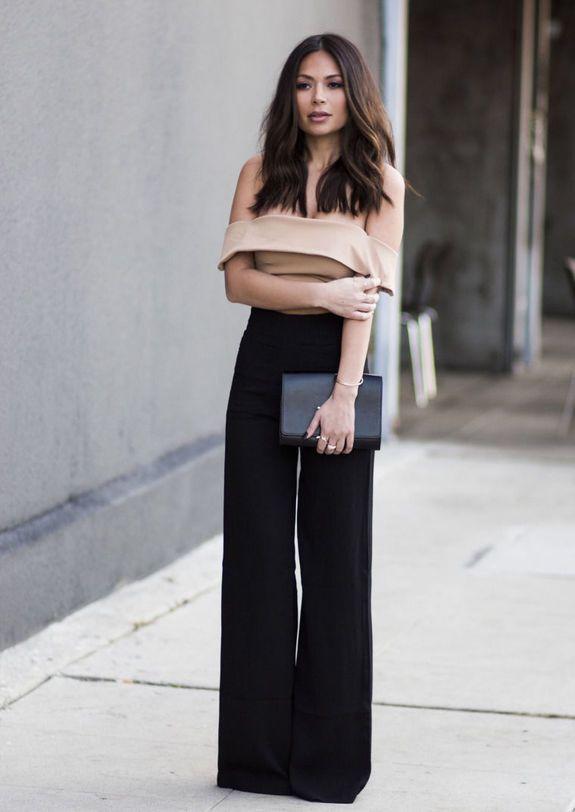 Стильный образ с брюками-клеш