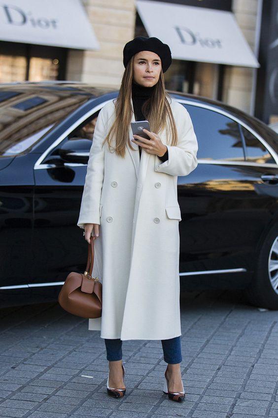 Берет под пальто как носить