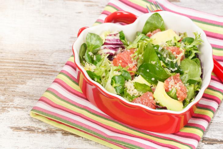 Полезный салат с грейпфрутом