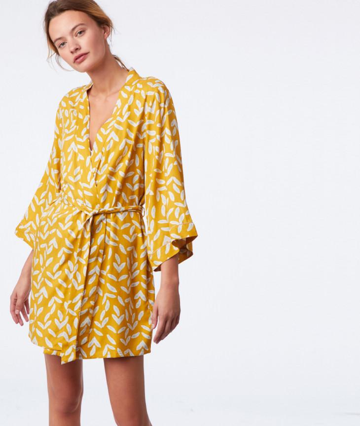 Желтый женский халат