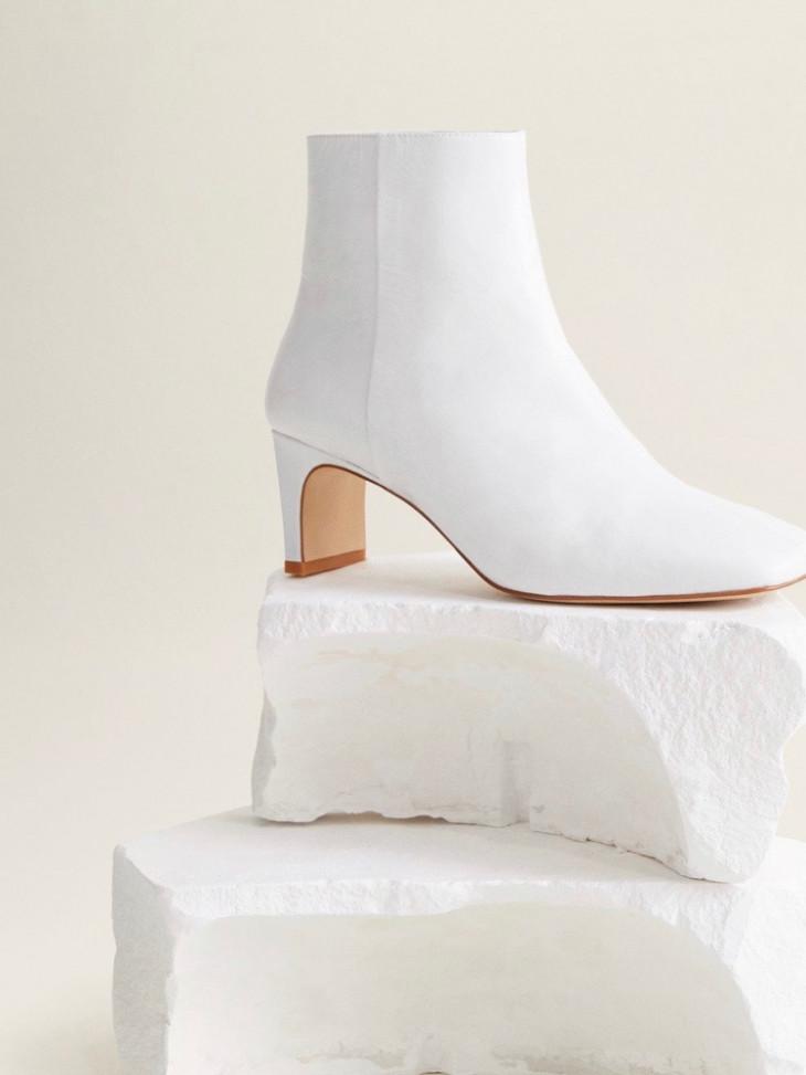 Кожаные ботинки на каблуке Mango