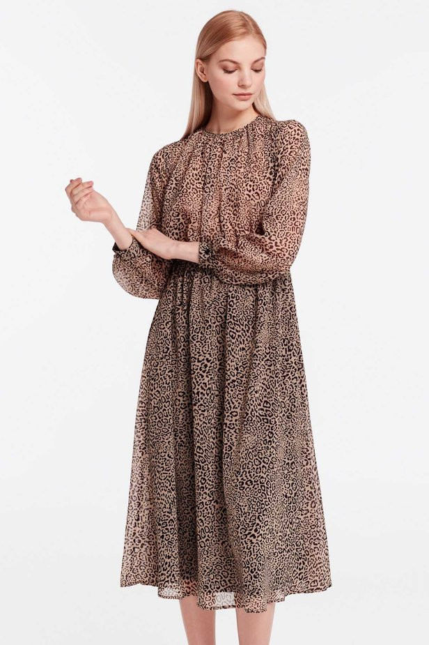 Платье миди с леопардовым принтом MustHave