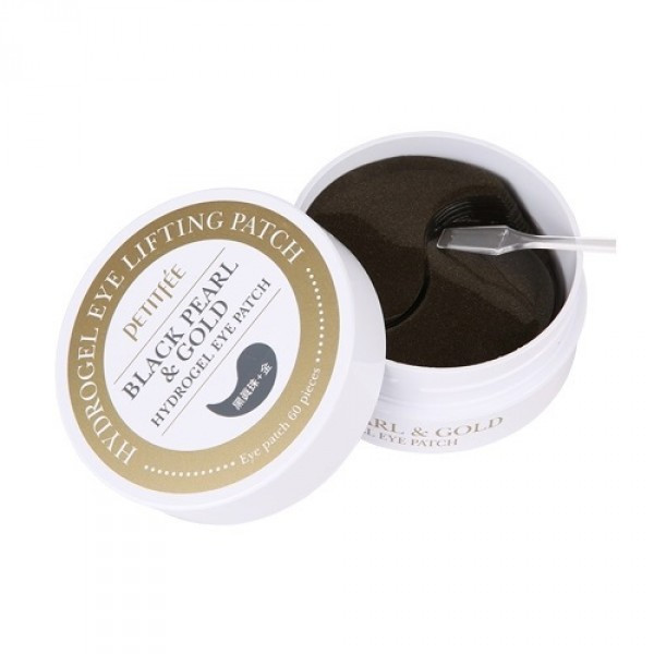 Патчи Black Pearl & Gold Hydrogel Eye Patch, Petitfee