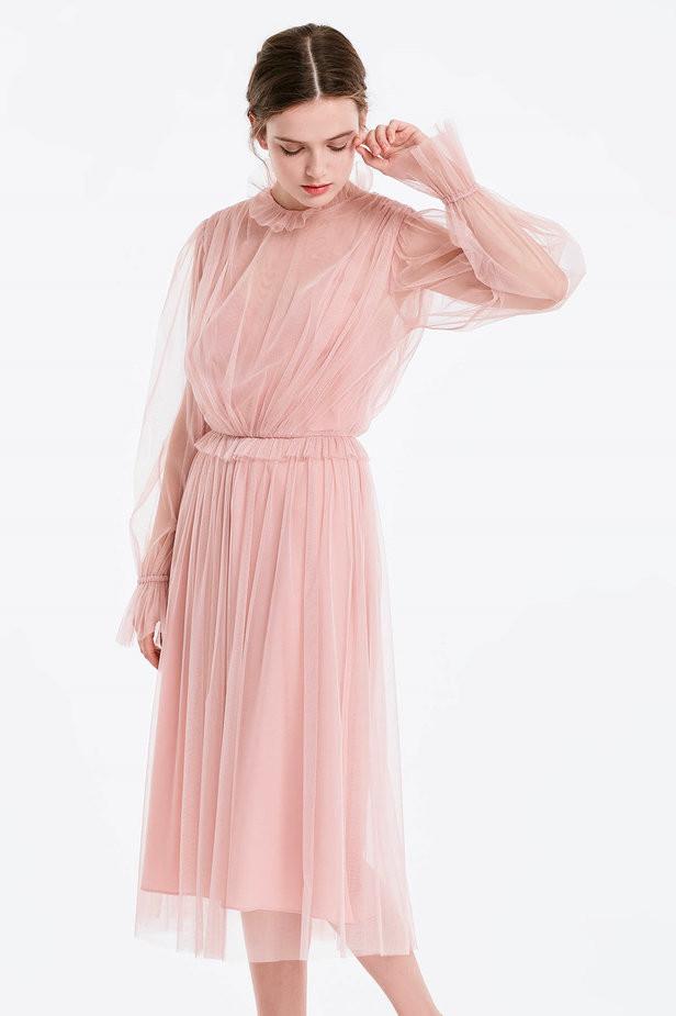 Пудровое платье-миди MustHave